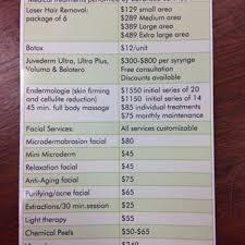 laser hair removal list