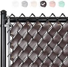 Amazon Com Fenpro Chain Link Fence Privacy Tape Chocolate Brown Garden Outdoor