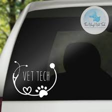 Vet Tech Decal Gift For Vet Tech Vet Nurse Veterinary Etsy