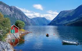 fjord in norway mounns nature