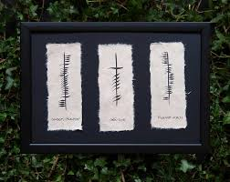 ogham wishes plaque friendship love