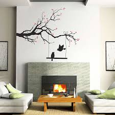 Blossom Tree Branch With Bird Of Love Vinyl Wall Art Decal