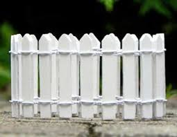 White Picket Fence Edging Fairy Garden Accessory By Jennifer