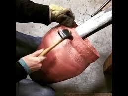 hammering copper cg sculpture jewelry