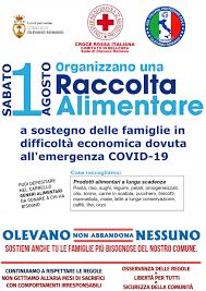 RACCOLTA ALIMENTARE SABATO 1 AGOSTO A SOSTEGNO DELLE FAMIGLIE IN ...