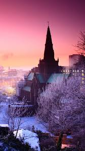 winter sunset nature hd iphone 6