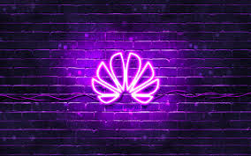 Download Wallpapers Huawei Violet Logo 4k Violet Brickwall