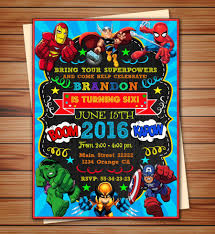 Super Heroes Party Invitation Super Heroes Party Digital Etsy