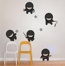 Cute Ninja Wall Decal Art Kids Karate Wall Decor Bedroom Wall Mural Ni American Wall Designs