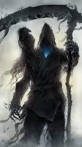 grim reaper raven dark wallpaper