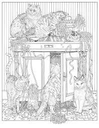 Bol Com Franciens Kattenkleurboek Voor Volwassenen Francien Van