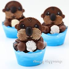sea otter cupcakes cute finding dory