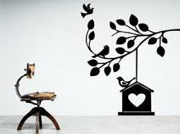 Wall Sticker Black Birds Nest Love Design Removable Home Decor Wall Decal Ebay