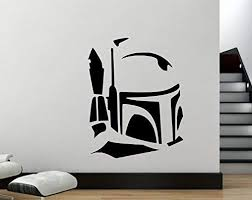 Amazon Com Maxx Graphixx Star Wars Wall Decal Boba Fett Head Vinyl Wall Sticker Boba Fett Helmet Decal 27 X 21 Home Kitchen