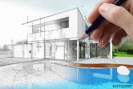 dessin d une maison d architecte avec