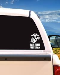 Usmc Marine Corps Veteran Car Truck Laptop Window Etsy
