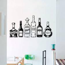 Wall Decal Irish Whiskey Bottle Vinyl Wall Stickers Alcohol Glass Pattern Kitchen Night Bar Removable Home Decor X129 Wall Stickers Aliexpress