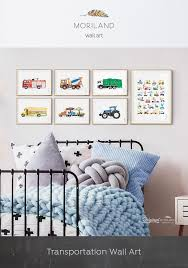 Alphabet Print Letters Print Tractor Print Cement Mixer Car Carrier Transport Numbers Print Classroom Boy Room Toddler Boys Room Toddler Boy Room Decor