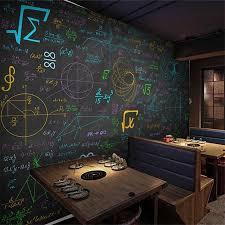 Beibehang مخصص خلفيات 3d جدارية الرياضيات صيغة اللون الطباشير