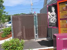 Montco Fence Superior Structures Llc Brown Privacy Slats On A Chain Link Image Proview