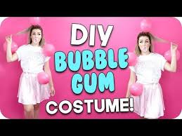 diy bubble gum costume you