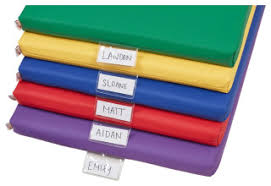 Rainbow Rest Mat 5 Piece Assorted Contemporary Kids Room Accessories By Ecr4kids