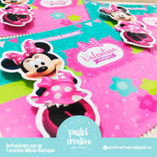 Pastel Creativo Invitacion Tematica Minnie Mouse Boutique