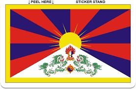 Amazon Com Tibet Flag Car Bumper Sticker Window Decal 5 X 3 Automotive
