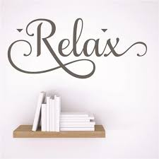 Vinyl Wall Decal Sticker Relax Sign Lettering Quote 4x16 Inches Walmart Com Walmart Com