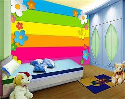 3d Wallpaper Photo Wallpaper Custom Kids Bedroom Mural Rainbow Plank Flower 3d Painting Sofa Tv Background Wallpaper For Wall 3d Wallpapers Aliexpress