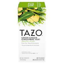 tazo hot tea green ginger 6 x 24 bags