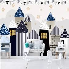 Custom Mural Self Adhesive Wallpaper For Nursery Castles Bvm Home
