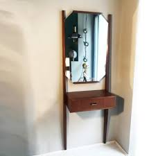 vintage wall dressing table with mirror