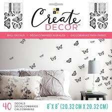 Shop Dcwv Create Decor Removable Wall Decals 8 X8 Black Butterflies 8 Sheets Overstock 18455884