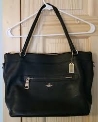 pebbled leather city tote bag