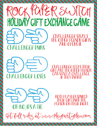 rock paper scissors gift exchange game