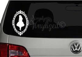 Alice In Wonderland Cameo Disney Inspired Laptop Car Window Vinyl Decal Sticker