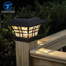 Transctego Solar Light For Garden Waterproof Led Solar Lamp Outdoor Landscape Courtyard Lights Household Fence Post Pillar Lamps Solar Lights For Garden Solar Lightlandscape Courtyard Aliexpress