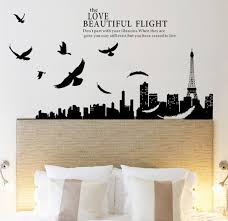 Paris Eiffel Tower City Night Scene Wall Sticker Bedroom Tv Parede Art Mural Wall Paper Decal Diy Home Decor Poster 180x70cm Decorative Wall Posters Posters Warposters Water Aliexpress