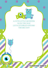 Great Event Using Free Monster Baby Shower Invitations Templates