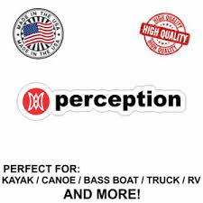 Perception Kayaks Decal Sticker For Kayak Canoe Truck Bass Boat Rv And More Ebay