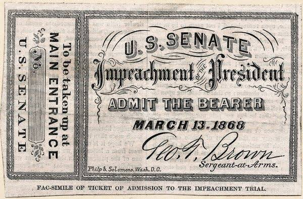 "Resultado de imagen para johnson impeachment"""