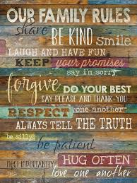Marla Rae Our Family Rules Country Wood Wall Art 12 X18