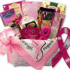 hope and strength t cancer gift basket