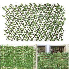 Retractable Artificial Garden Trellis Fence Expandable Faux Ivy Privacy Fence Wood Vines Climbing Frame Gardening Plant Decor Fencing Trellis Gates Aliexpress