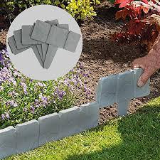20pcs Plastic Lawn Fence Border Gray Edging Garden Plant Grass Edge Fence Wall Landscape Stone Grounding Fence Decor 45 Fencing Trellis Gates Aliexpress