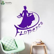 Flamenco Dancer Removable Wall Decal Brazil Dance Wall Sticker Interior Sign Home Decor Studio Carnival Rio De Janeiro Art Sy346 Dance Wall Stickers Wall Stickerremovable Wall Decals Aliexpress