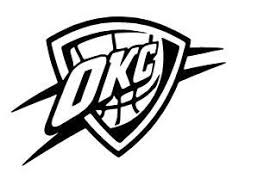 Oklahoma City Thunder Vinyl Decal Sticker Car By Rafysdecals Oklahoma City Thunder Logo Okc Thunder Oklahoma City Thunder