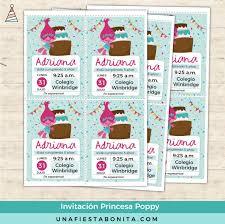 Princesa Poppy Invitacion Para Imprimir Artesanias Que Puedes