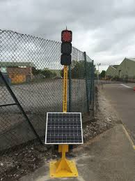Two Way Solar Powered Wireless Traffic Light System Transport Support